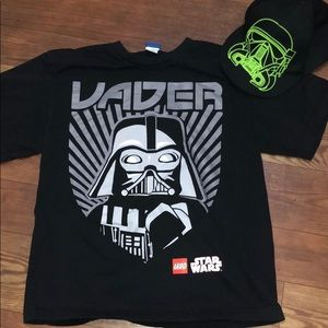 Star Wars Short Sleeved T-Shirt and Hat Bundle